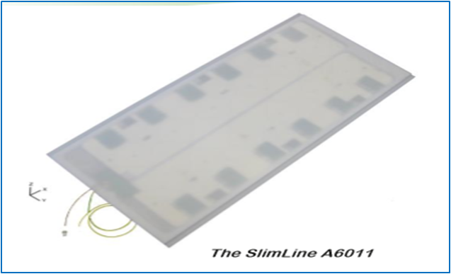 UHF RFID 11dbi 平板圆极化传送带超薄天线~A6011
